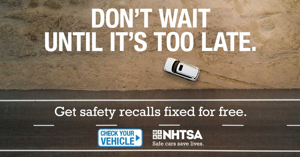 Preview static image for nhtsa/NHTSA-DontWait-1200x628